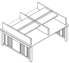 Double-Sided/Single Tier with Shelf (Study) - GLDST
