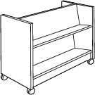 Book Return Cart Double Sided - GLFDBR