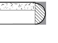 "2"" Wood Bullnose with Stone Inlay - SA"