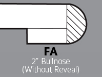 "FA - 2"" Bullnose (without Reveal)"