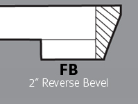 "FB - 2"" Reverse Bevel"