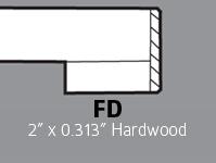 """FD - 2"""" x 0.313 Hardwood"""