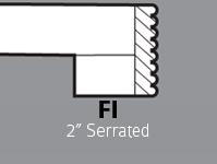 """FI - 2"""" Serrated"""