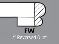 """FW - 2"""" Reversed Duet"""