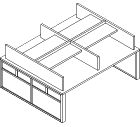 Double-Sided/Single Tier with Shelf (Study) - GLPST