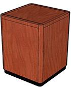 Wood Veneer Top, Black Recessed Base