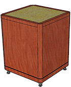 """Stone Top Kerf Cut (1/8"""" Thick), Leg Style 1"""