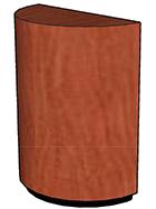 """Wood Veneer Top, Black Recessed Base (2"""" High)"""
