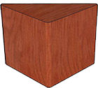 Wood Veneer Top, Plain Veneer Base