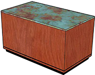"Laminate Top (3/4"" Thick), Kerf Cut (1/8"" Thick), Black Recessed Base (2"" High)"