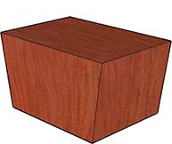 Wood Veneer Top, Plain Veneer Base