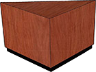 "Wood Veneer Top, Black Recessed Base (2"" High)"