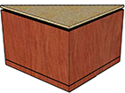 "Stone Top with Flat Edge, Black Recessed Band (3/4"" Thick), Kerf Cut (1/8"" Thick)"