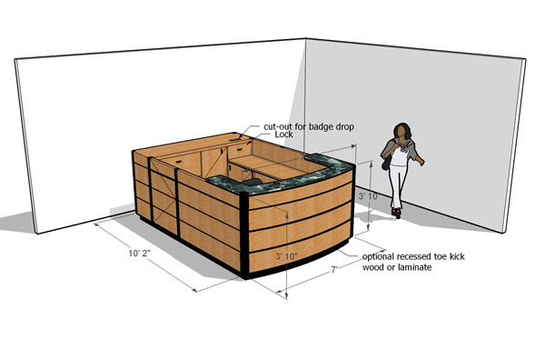 Reception Desk Designs Drawings Information Desk Designed