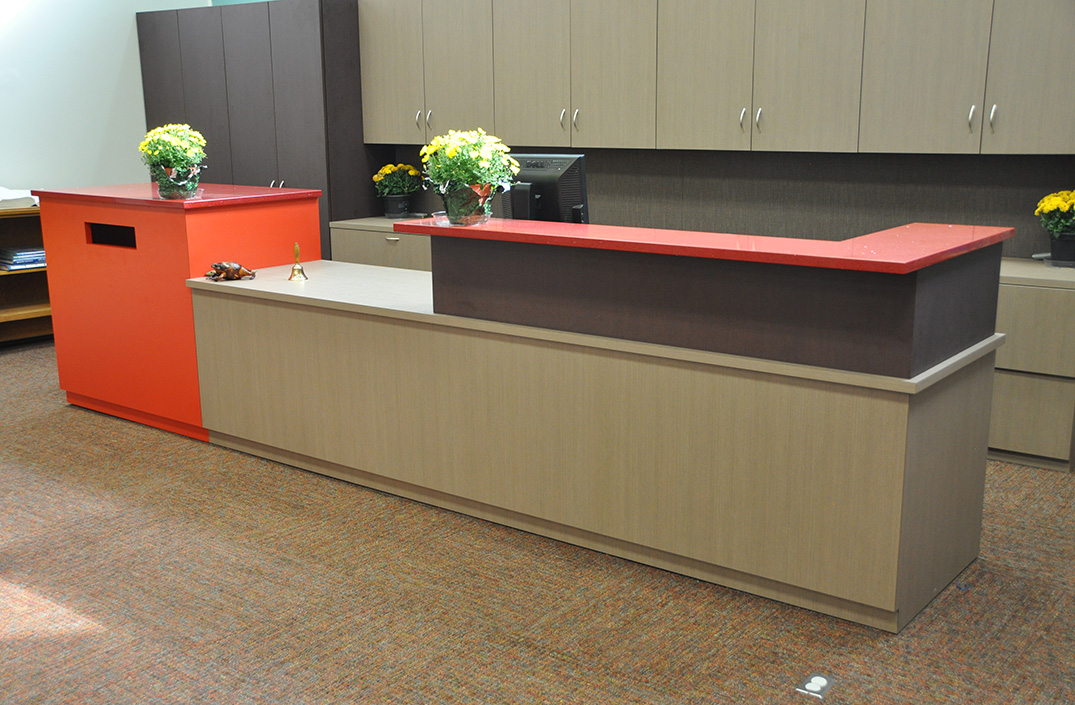 Quartz Stone Reception Desk : Custom designs arnold contract
