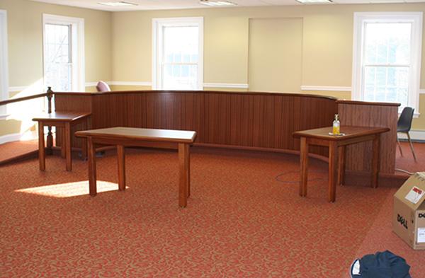 Beautiful Mahogany Dais Table For Municipal Building