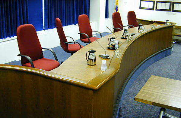 Public Utilities Dais Table. Council Chambers Arnold Contract