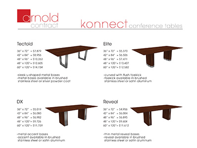 Price List (conference tables)