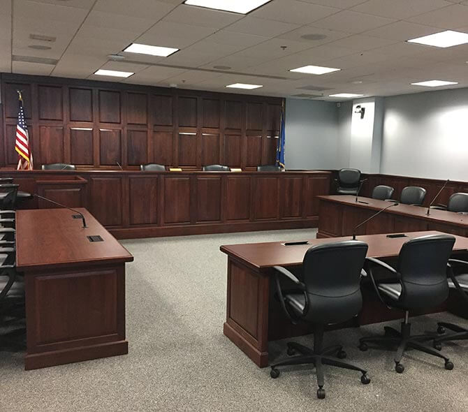Courtroom/Council Chambers Installations