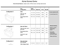 Korner Konnect 2020 Spec Guide
