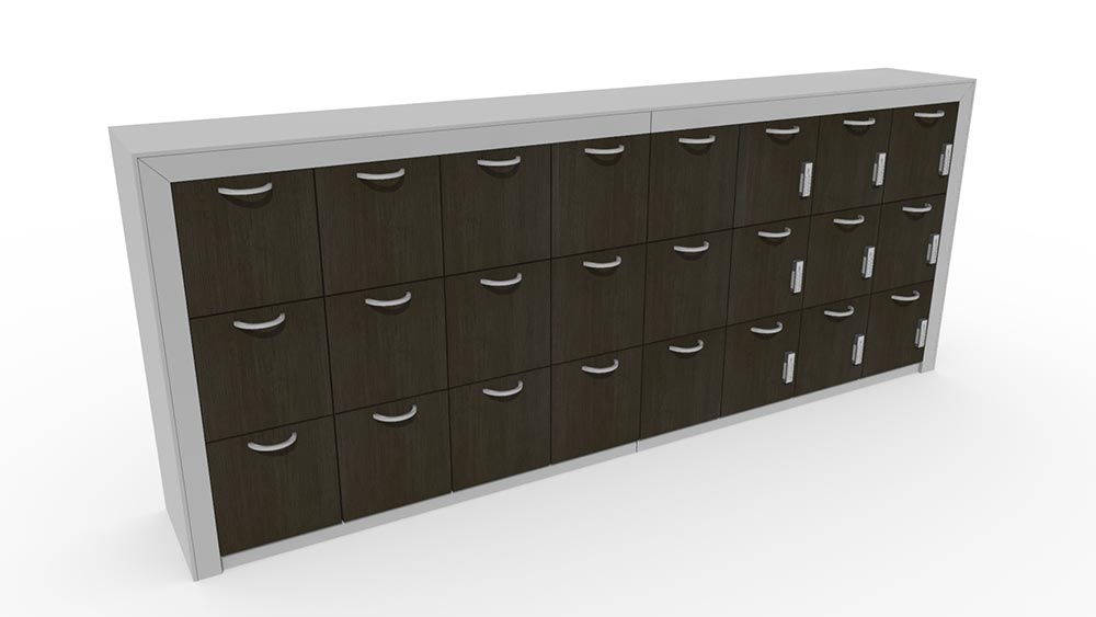 drawer lockers with lock options