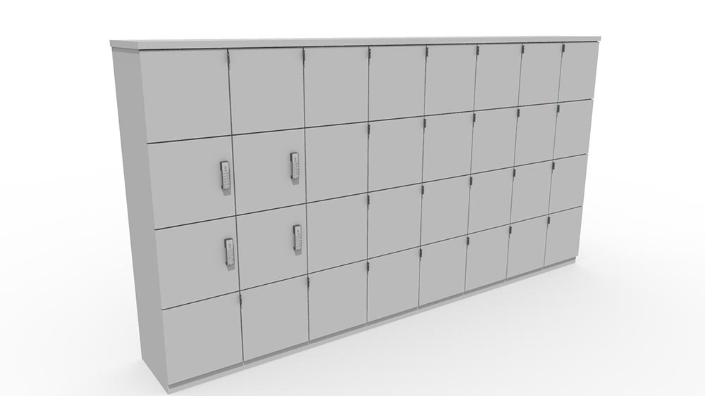 lockers with electronic locks