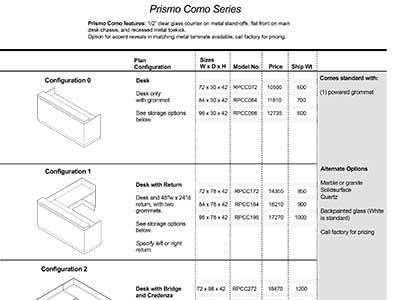 Prismo Como 2020 Spec Guide