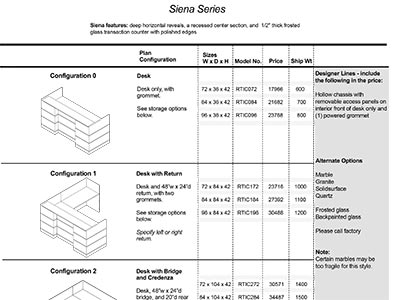 Siena 2020 Spec Guide