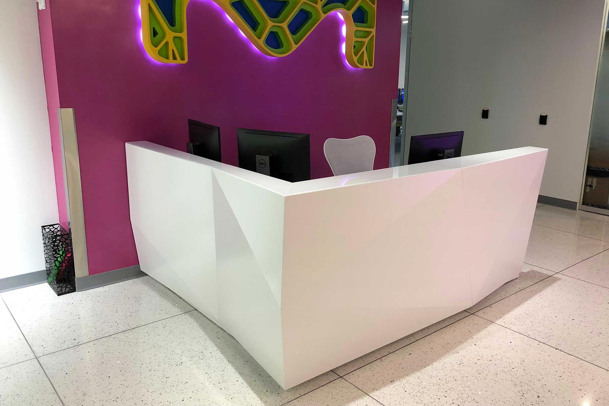Kirigami reception desk
