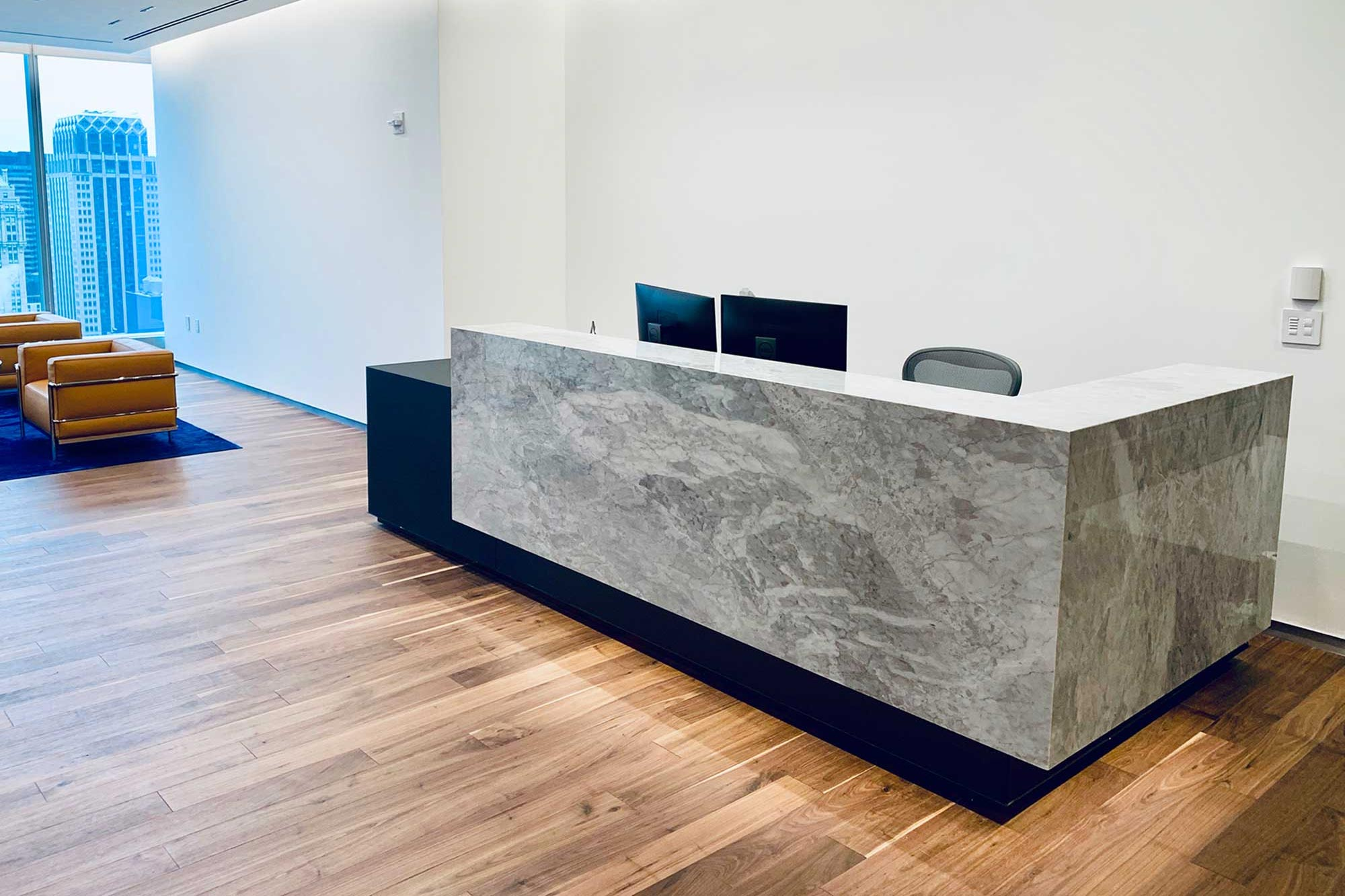 Stone Kubist reception desk