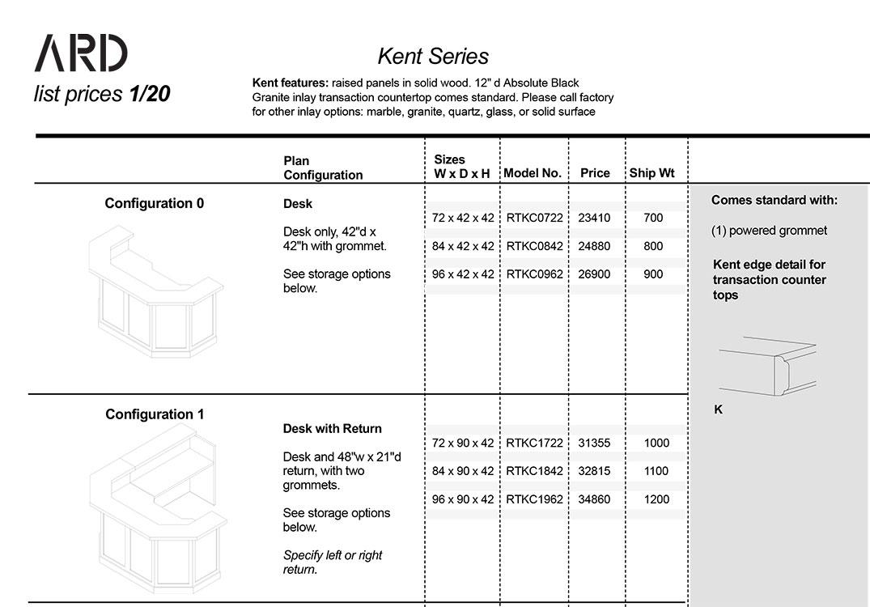 Kent 2020 Spec Guide