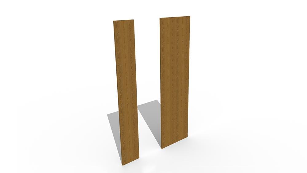 Single and Double Slab Shelf Ends