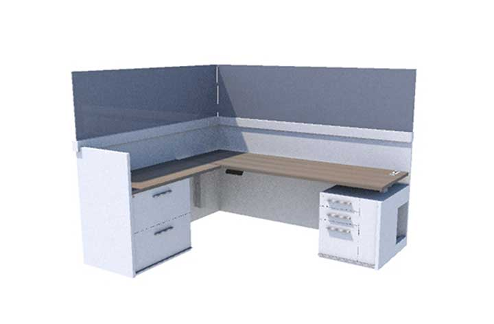 Konnect Casegoods High Gallery Desk