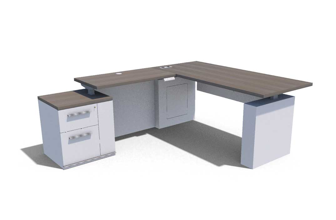 Konnect Casegoods Low Lateral Desk