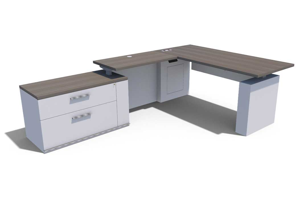 Konnect Casegoods Low Wide Lateral Desk