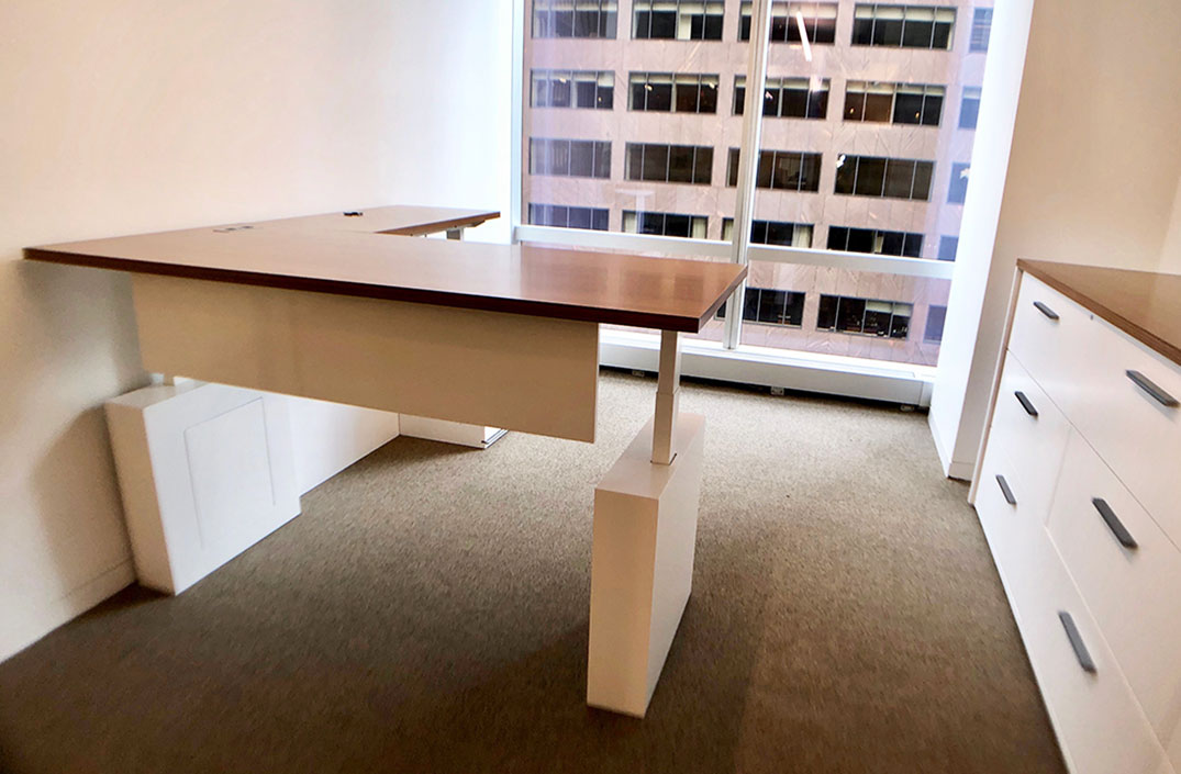 Konnect Sit-to-Stand Height Adjustable Desk with return
