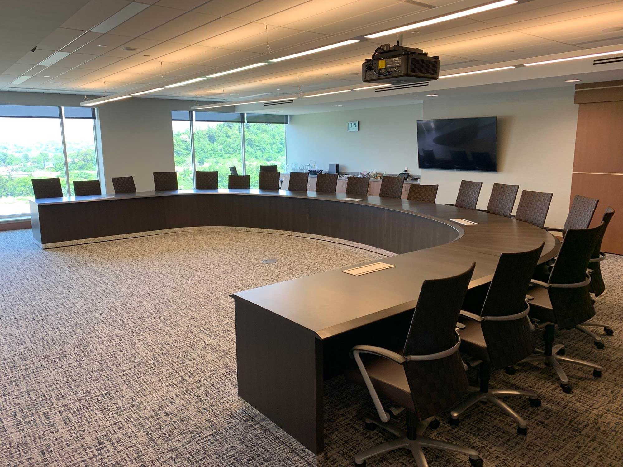 Curved U-Shape Council Chamber Table