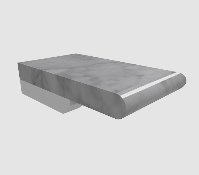 Bullnose Carrara 3 cm