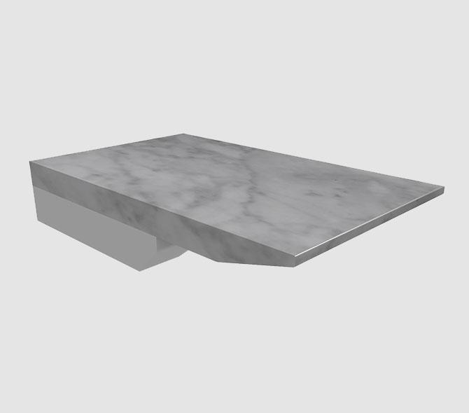Knife Carrara 2 cm