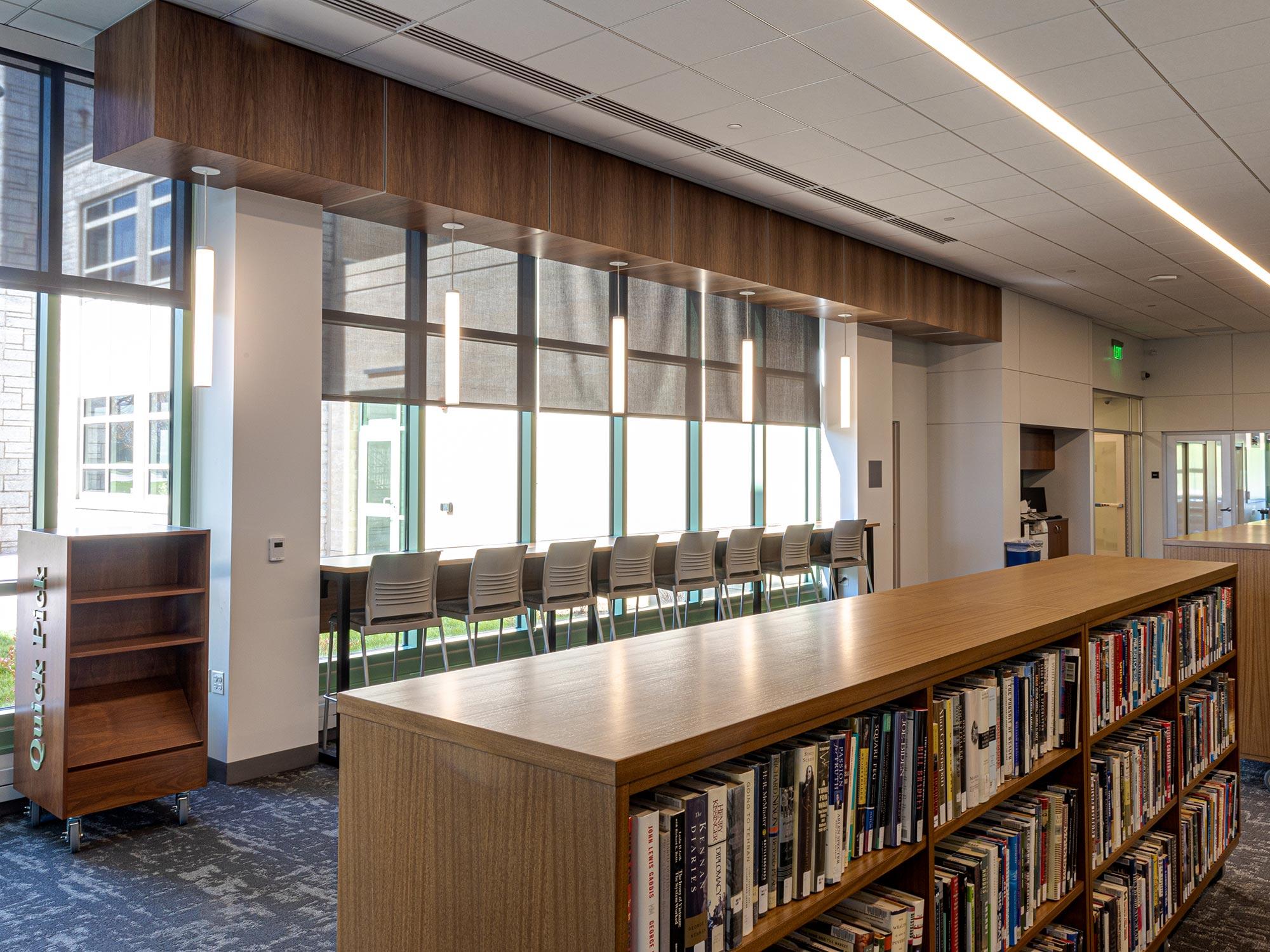 Delbarton School Library Shelves
