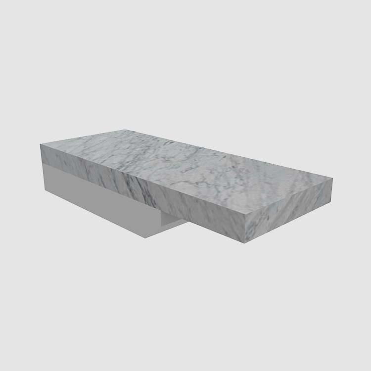 Stone Flat Eased 2 cm