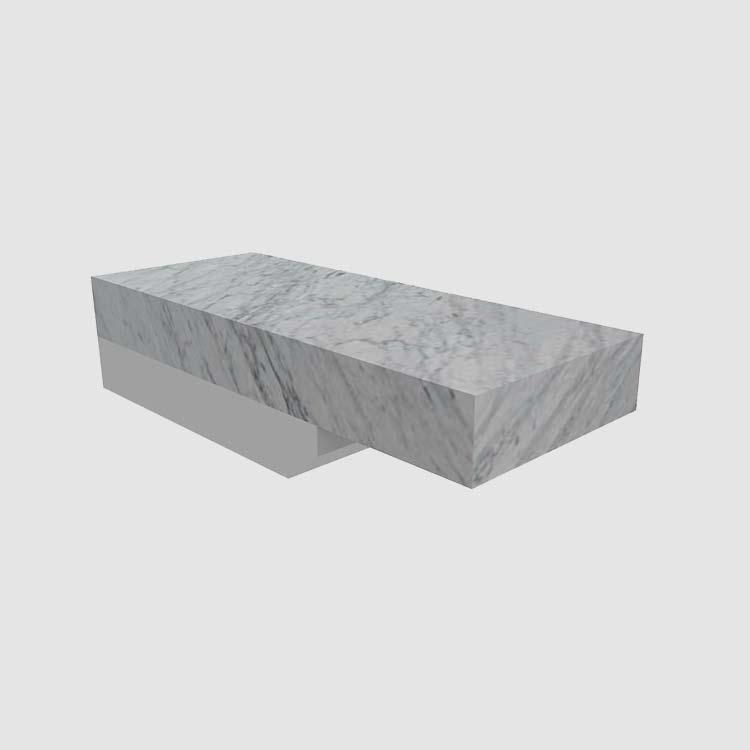 Stone Flat Eased 3 cm